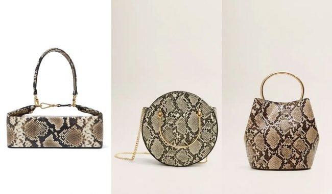trendy kabelky imitace hadí kůže hadí vzor