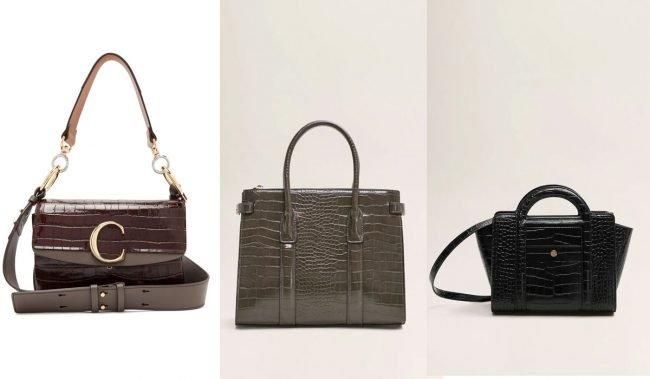 trend kabelky 2019 krokodýlí vzor imitace krokodýlí kůže