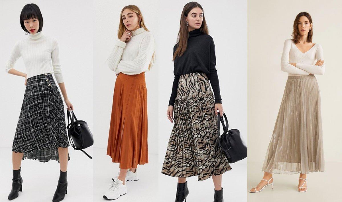 Trendy jaro - léto 2019 plisová sukně