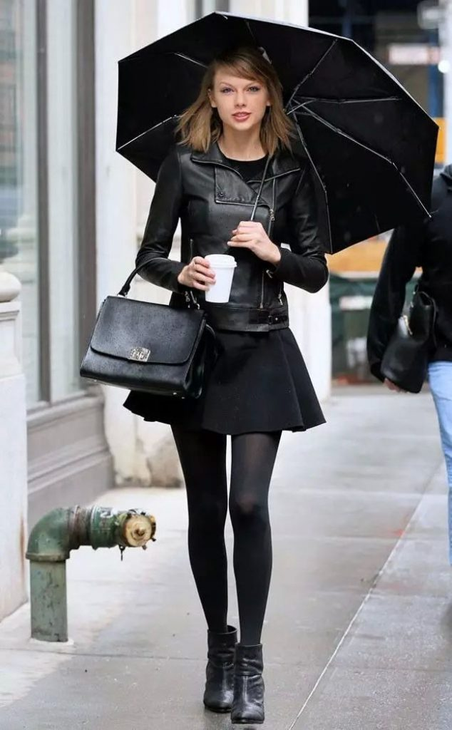 taylor swift total black style
