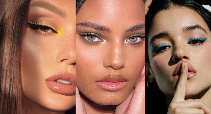 makeup trend 2021 vyrazné barevné linky